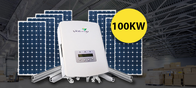 Commercial Solar Packages 100 Kw Solar Panel System Kit